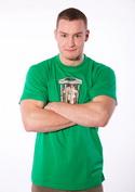 náhled - Ježek v kleci zelené pánské tričko