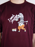 náhled - Změna vínové pánské tričko
