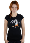 náhled - Změna černé dámské tričko