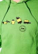 náhled - Testováno zelená pánská mikina