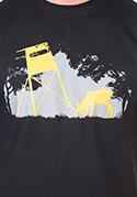 náhled - Lesní harmonie černé pánské tričko
