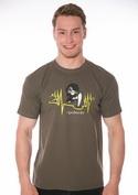náhled - Boží zásah khaki pánské tričko