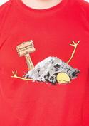 náhled - Sova spálená červené pánské tričko