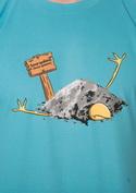 náhled - Sova spálená modré pánské tričko