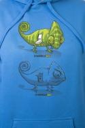 náhled - Zapnuto vypnuto modrá pánská mikina