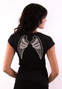 náhled - Křídla černé dámské tričko