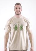 náhled - Granáty hnědé pánské tričko