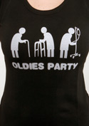 náhled - Oldies party černé dámské tričko