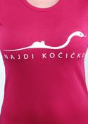 náhled - Najdi kočičku fuchsiové dámské tričko