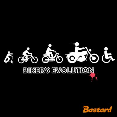 vtipný potisk - Bikers evolution