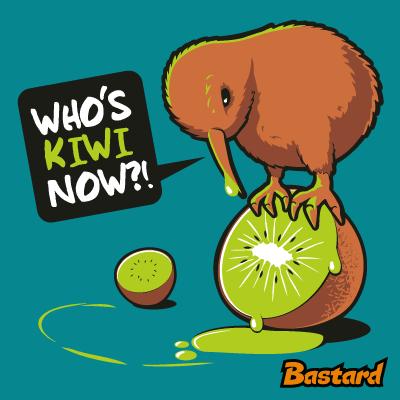 vtipný potisk - Kiwi