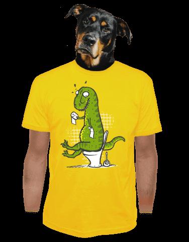 Rexíkův problém žluté pánské tričko