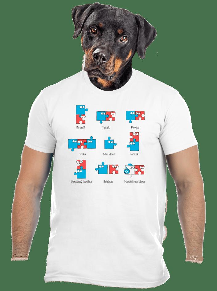 Puzzlesútra bílé pánské tričko