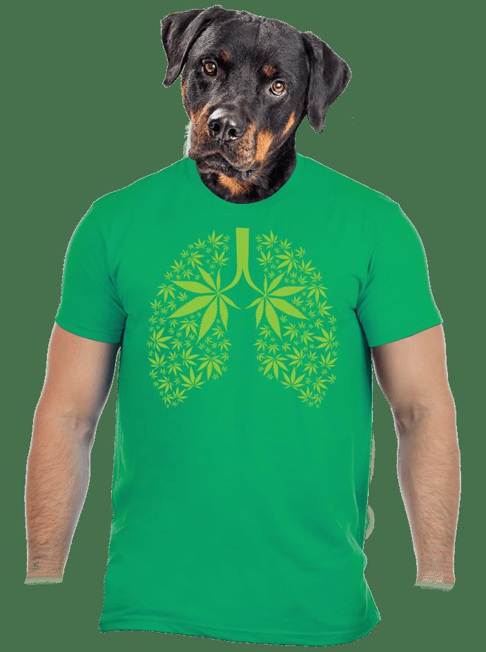 Ganja plíce pánské tričko
