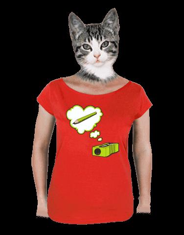 Ořezávátko červené dámské tričko