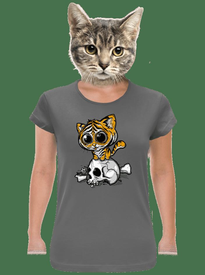 Tygřík šedé dámské tričko