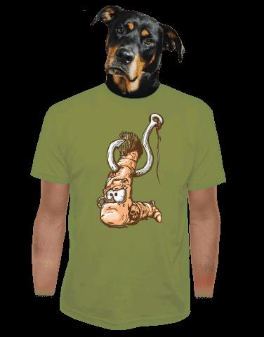 Piercing zelené pánské tričko