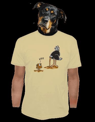 Pštrosí překvápko pánské tričko