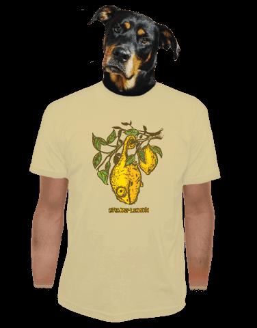Citrón světle hnědé pánské tričko