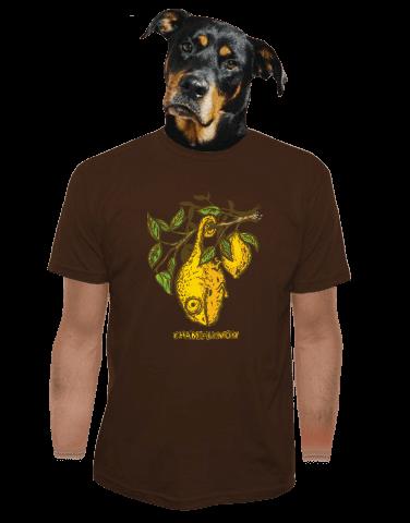 Citrón tmavě hnědé pánské tričko
