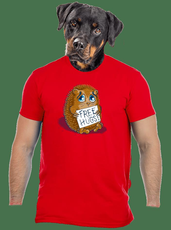 Objetí zdarma červené pánské tričko