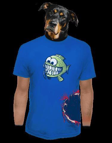Hladová rybka pánské tričko