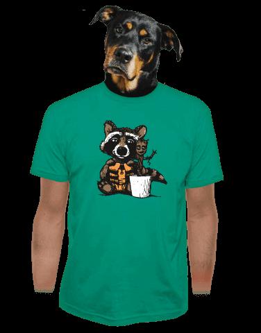 Strážci galaxie zelené pánské tričko