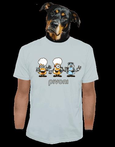 Pivoni šedé pánské tričko