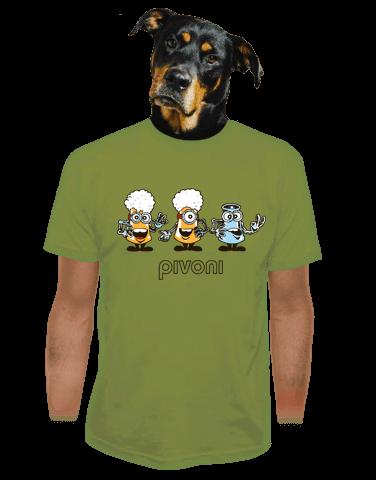 Pivoni zelené pánské tričko