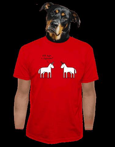 Pornorožec červené pánské tričko