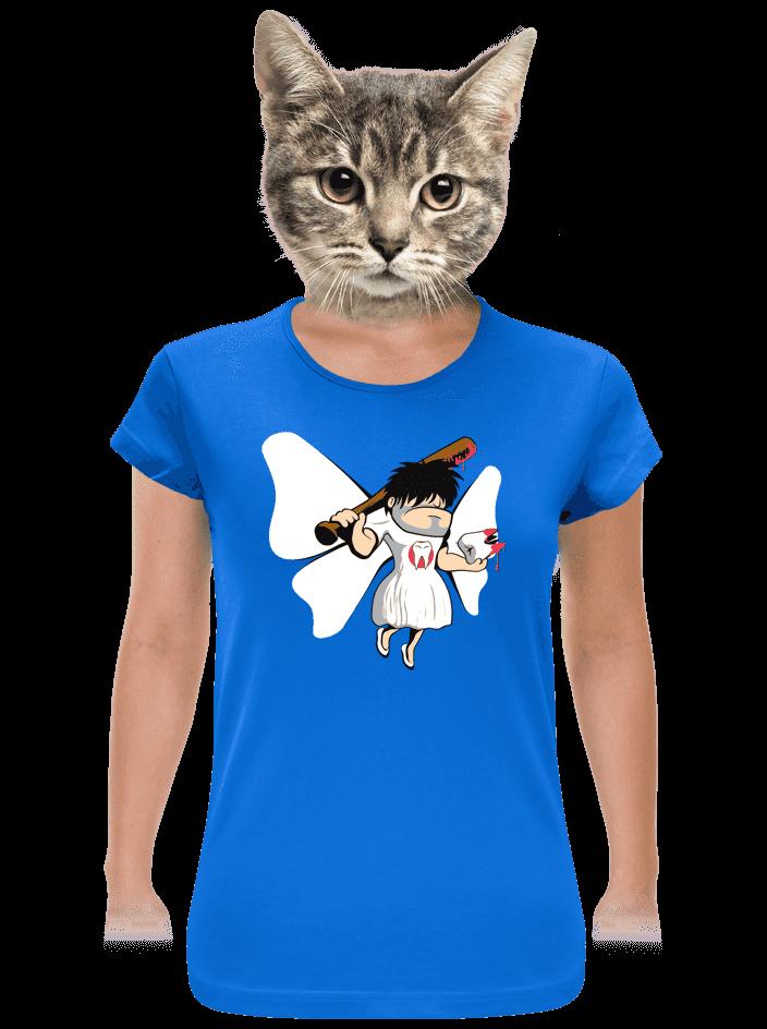Zoubková víla modré dámské tričko