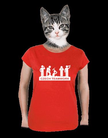 Czech Teamwork červené dámské tričko