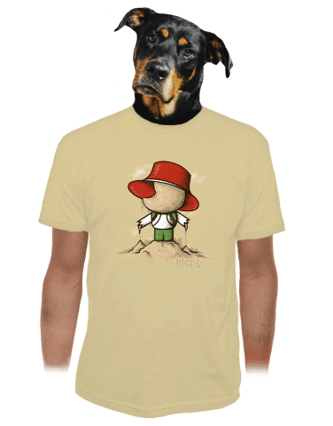 Na pískovišti pánské tričko