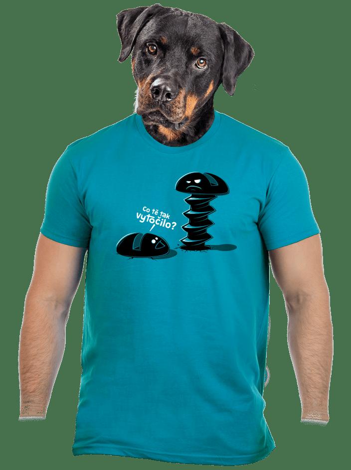 Vytočenej modré pánské tričko