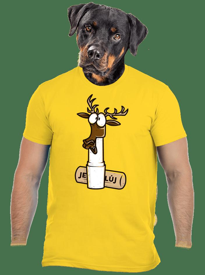 Jelení lůj žluté pánské tričko