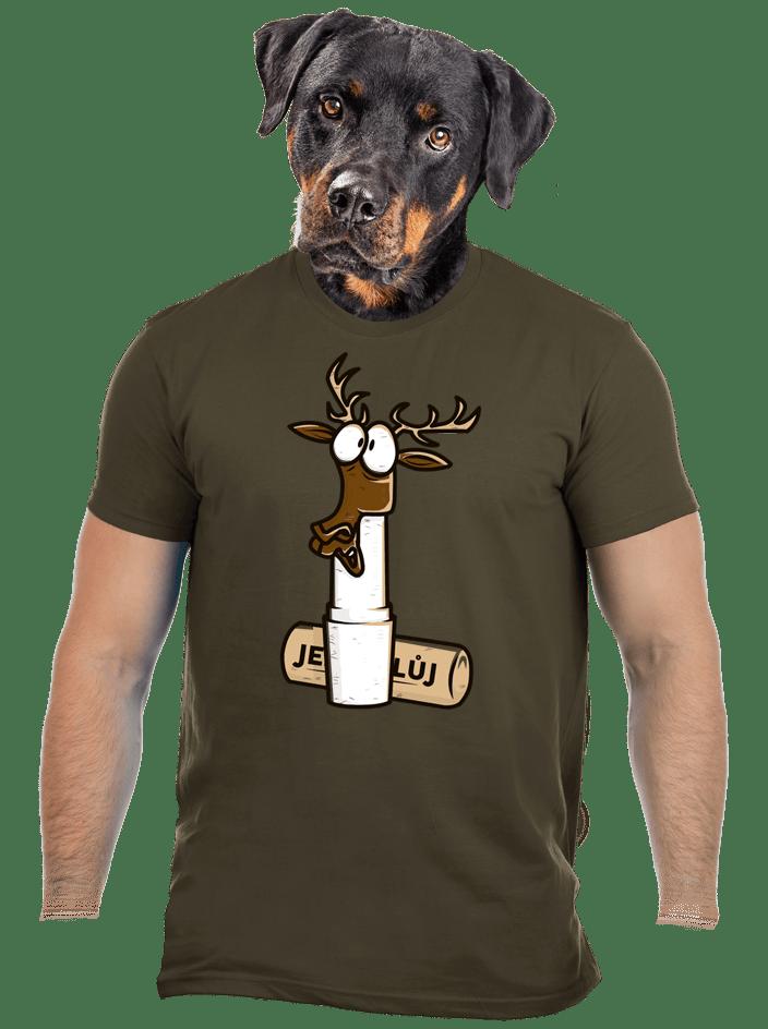 Jelení lůj zelené pánské tričko
