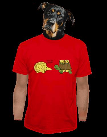 Želva s ježkem pánské tričko