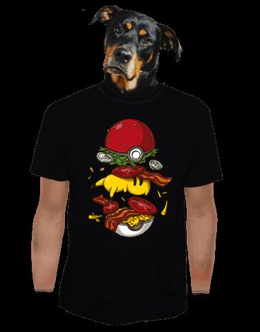 Pokémon burger černé pánské tričko