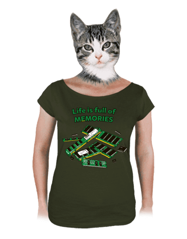 Uchováno v paměti dámské tričko