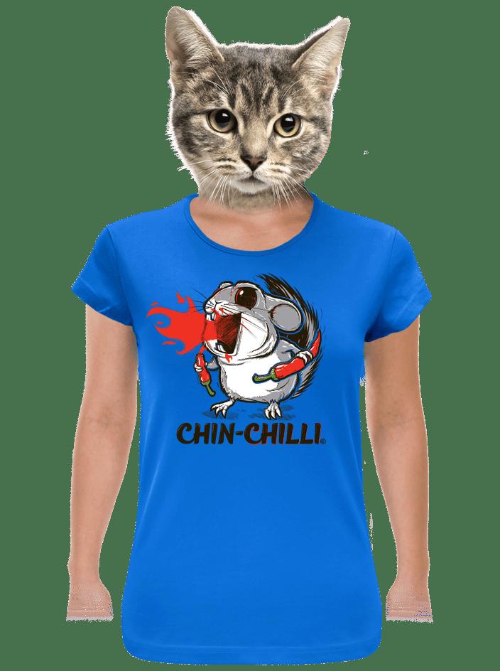 Chinchilli modré dámské tričko