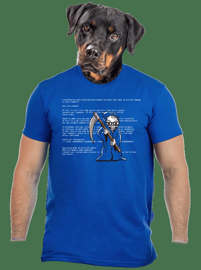 Modrá smrt pánské tričko