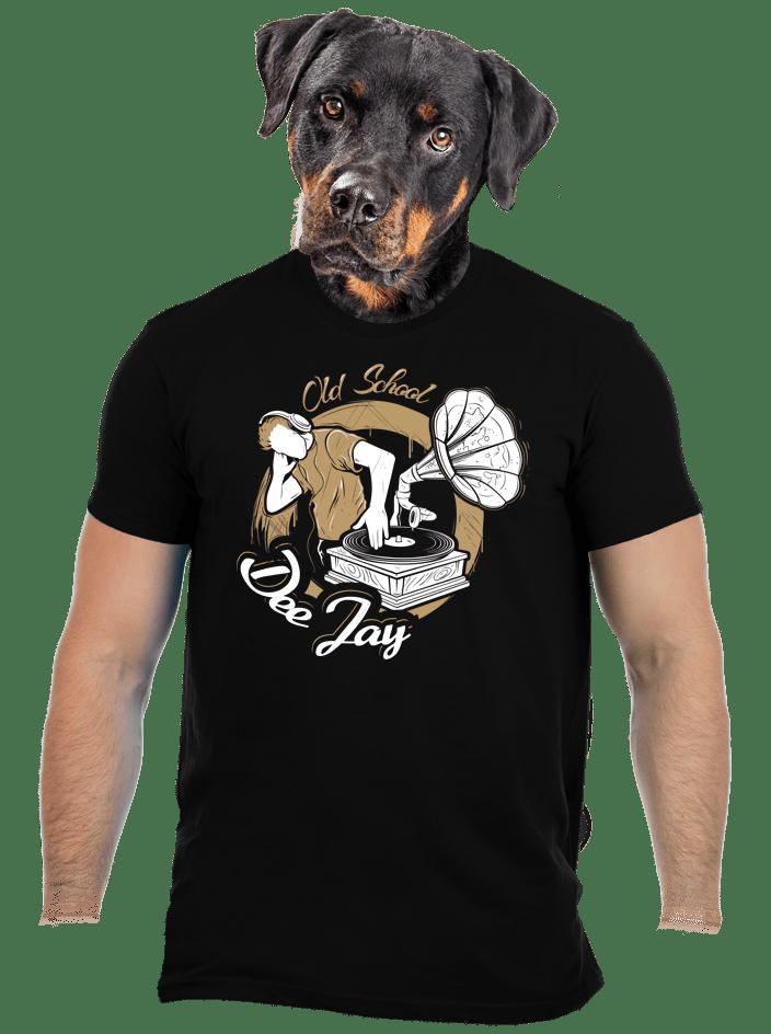Old school DJ pánské tričko