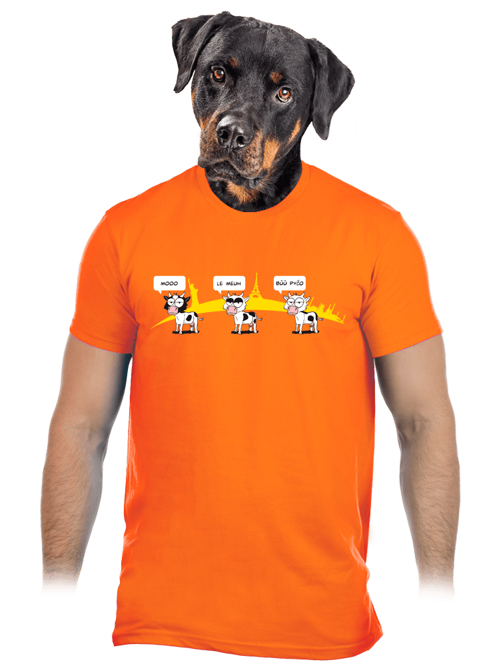 Ostravačka oranžové pánské tričko