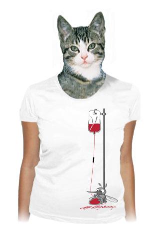 velký náhled - Komár bílé dámské tričko