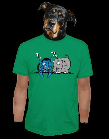 Error 501 zelené pánské tričko