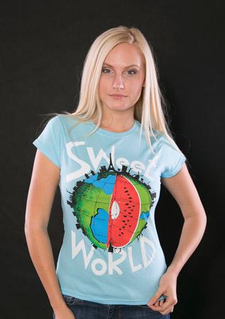 velký náhled - Sweet World modré dámské tričko