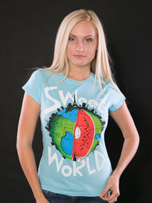 Sweet World modré dámské tričko