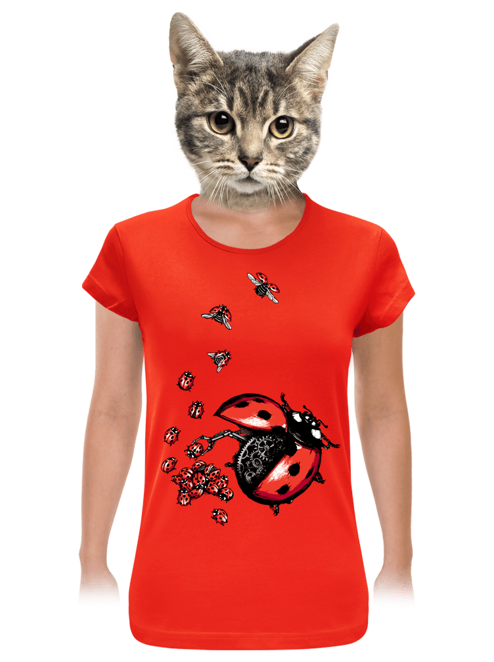 Ladybird Factory červené dámské
