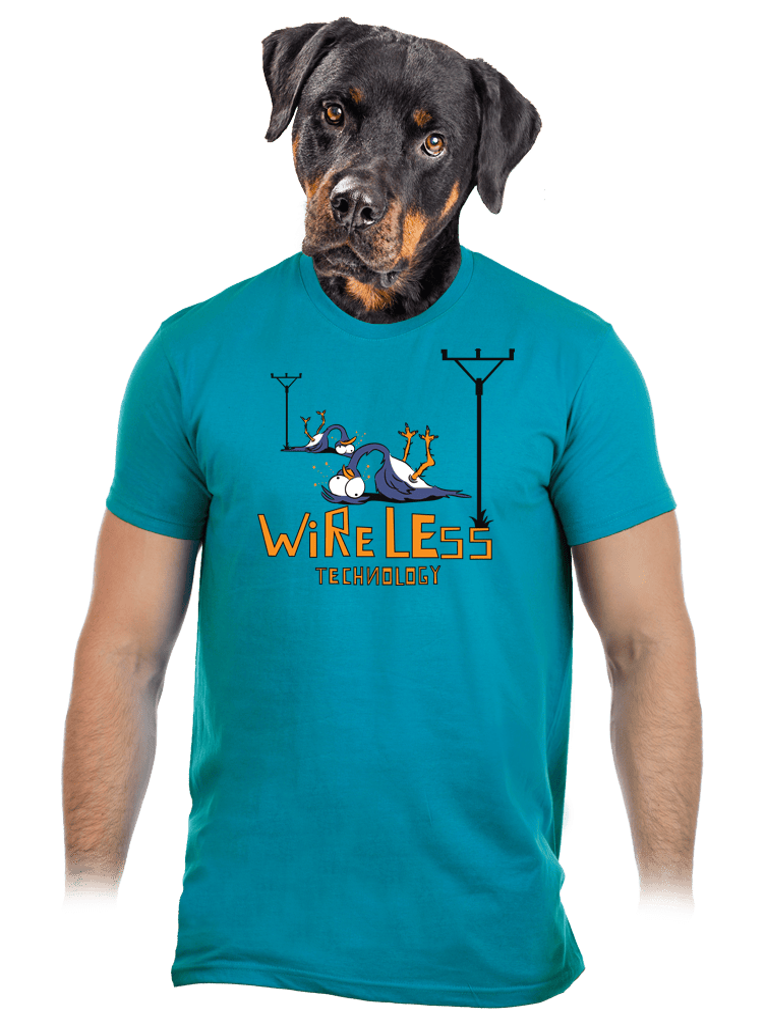 Bezdrát modré pánské tričko