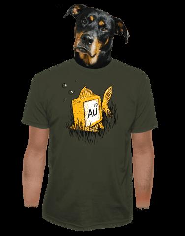 Zlatá rybka pánské tričko